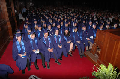 Graduating class of 2010 in auditorium