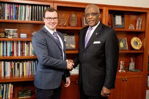 Thomas Dowling and Chancellor Robert Jones