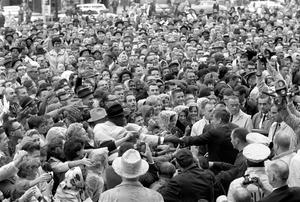 JFK and crowd
