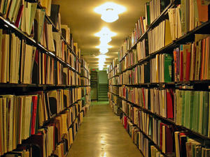 Stacks at the University of Illinois' Main Library
