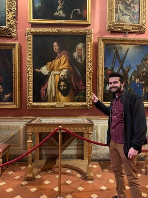 Michael in the Uffizi Gallery, Florence
