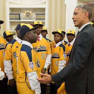 President Obama Welcomes the Jackie Robinson West All Stars to the White House